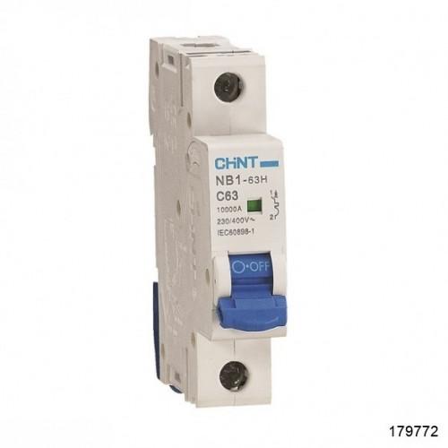 Автоматический выключатель NB1-63H 1Р 20А 10кА х-ка B (R) (CHINT), арт.179772