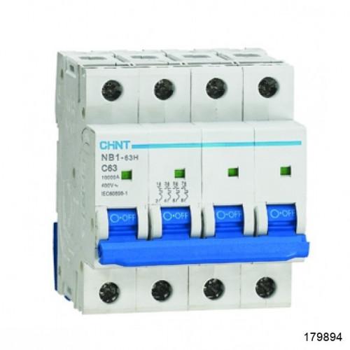 Автоматический выключатель NB1-63H 4Р 10А 10кА х-ка B (R) (CHINT), арт.179894