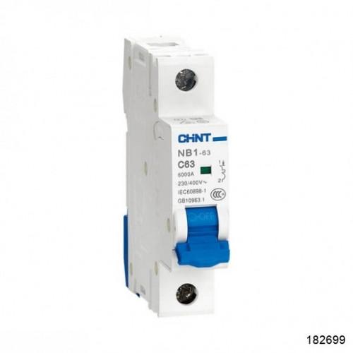 Автоматический выключатель пос.тока NB1-63DC 1P 1А 250В 6кА х-ка (CHINT), арт.182699