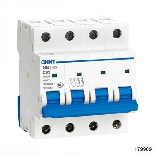 Автоматический выключатель NB1-63H 4Р 13А 10кА х-ка C (R) (CHINT), арт.179909