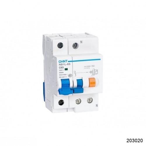 Диф. автомат NB1L 1P+N С20 30мА тип А 6кА (36mm) (CHINT), арт.203020