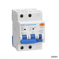 Дифференциальный автомат NB1L 2P C16 30mA тип AC 10kA (54mm) (R) (CHINT), арт.205091