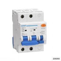 Дифференциальный автомат NB1L 2P C25 30mA тип AC 10kA (54mm) (R) (CHINT), арт.205093