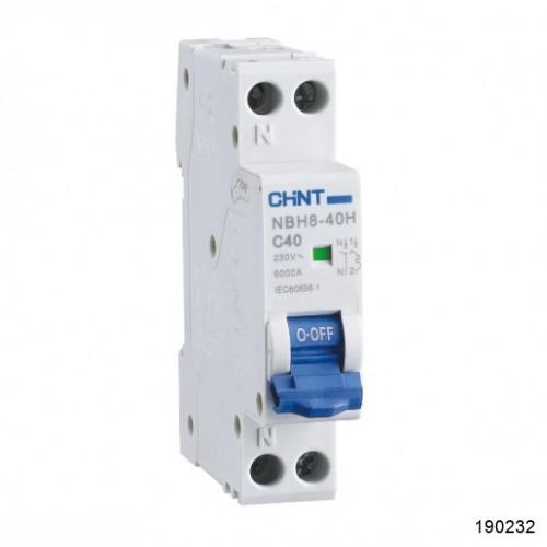 Автоматический выключатель NBH8-40 1P+N 3А 4.5кА х-ка C (CHINT), арт.190232