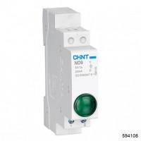 Индикатор ND9-1/g зеленый, AC/DC230В (LED) (CHINT) , арт.594108