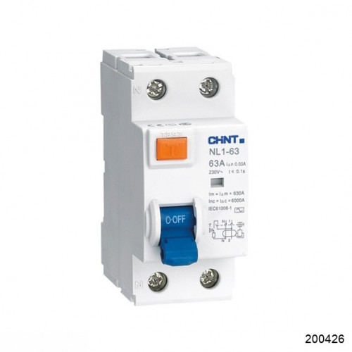 УЗО NL1-100 S 2P 63A 300mA 10kA тип AC (R) (CHINT), арт.200426