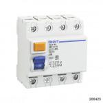 УЗО NL1-100 S 4P 63A 300mA 10kA тип AC (R) (CHINT), арт.200423