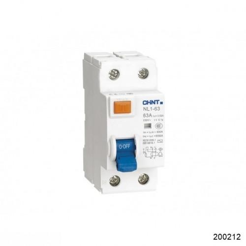 УЗО NL1-63 6kA 2P 25A 30mA тип AC (DB) (CHINT), арт.200212