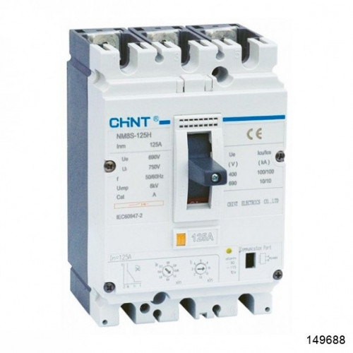 Автоматический выключатель NM8-125H 3Р 25А 100кА (CHINT), арт.149688