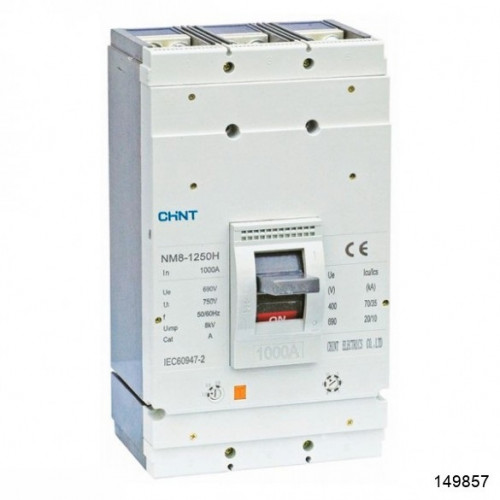 Автоматический выключатель NM8-1250S 3Р 800А 50кА (CHINT), арт.149857