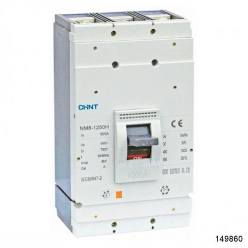 Автоматический выключатель NM8-1250H 3Р 800А 70кА (CHINT), арт.149860