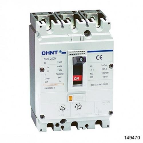 Автоматический выключатель NM8-250H 3Р 160А 100кА (CHINT), арт.149470