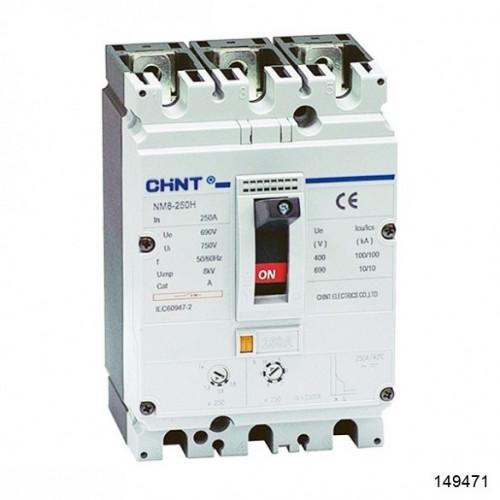 Автоматический выключатель NM8-250H 3Р 200А 100кА (CHINT), арт.149471