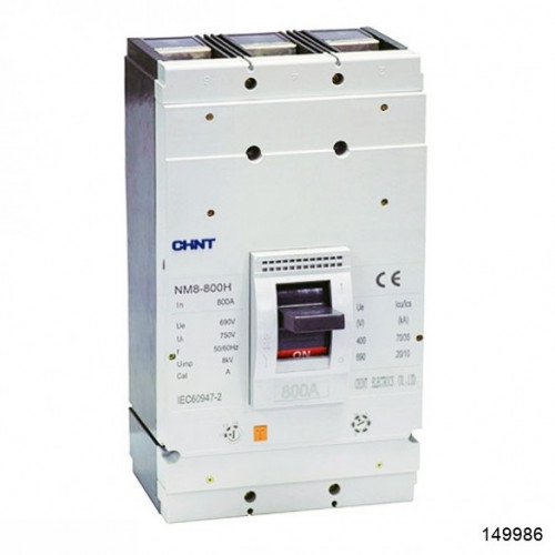 Автоматический выключатель NM8-800S 3Р 700А 50кА (CHINT), арт.149986