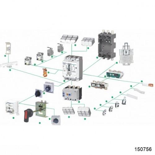 PIA-3 Устройство, блокирующее отсоединение и присоединение выключателя NM8(S)-250/3P (CHINT), арт.150756