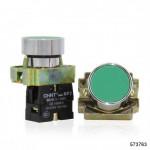 Кнопка управления NP2-BA35 без подсветки зеленая, 1НЗ +1НО IP40 (CHINT), арт.573763