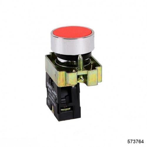Кнопка управления NP2-BA45 без подсветки красная, 1НЗ +1НО IP40 (CHINT), арт.573764