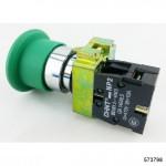 Кнопка управления Грибок, 40мм с самовозвратом NP2-BC32 без подсветки зеленая 1НЗ IP40 (CHINT), арт.573798