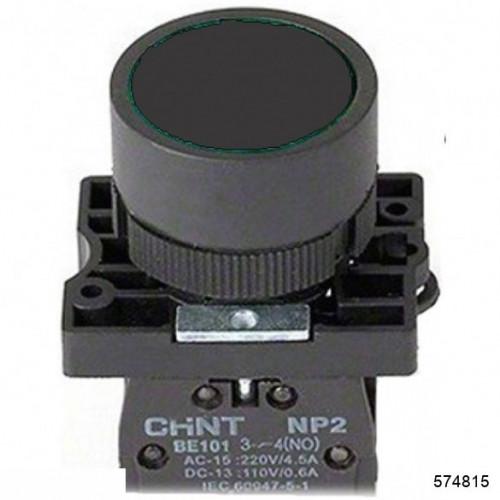 Кнопка управления NP2-EA25 без подсветки черная 1НО+1НЗ IP40 (CHINT), арт.574815