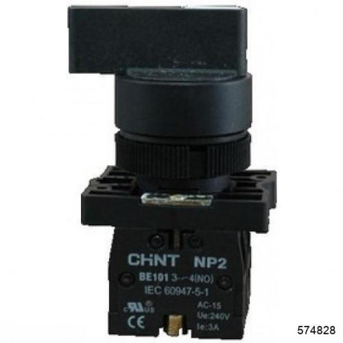 Переключатель NP2-EJ53, 3 положения с возвратом, 2НО IP40 (CHINT), арт.574828