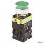 Кнопка управления NP2-BW3361 1НО зеленая AC/DC230В(LED) IP40 (CHINT), арт.573831