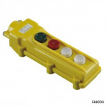 "Пульт кнопочный NP3-1А , 2 кнопки + ""Включено""+""Выключено"" IP65 (CHINT), арт.586030"