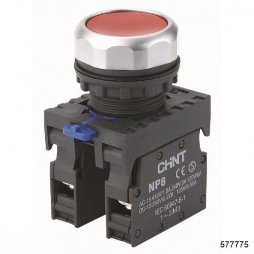 Кнопка управления NP8-11BN/2 без подсветки, чёрная 1НО+1НЗ IP65 (CHINT), арт.577775