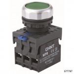 Кнопка управления NP8-11BND/3 с подсветкой , зелёная , 1НО+1НЗ, АС110В-230В(LED) IP65 (CHINT), арт.577787