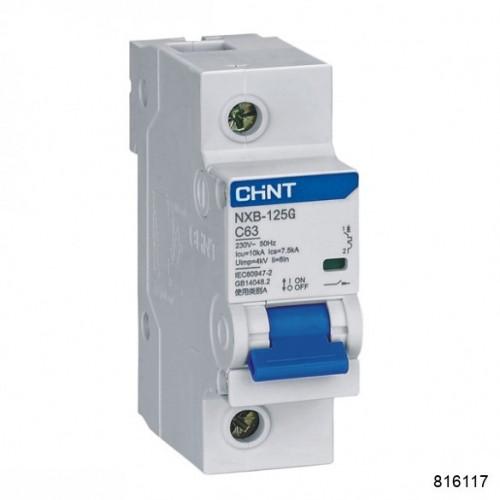 Автоматический выключатель NXB-125G 4P 80A 10кА х-ка D (CHINT), арт.816117