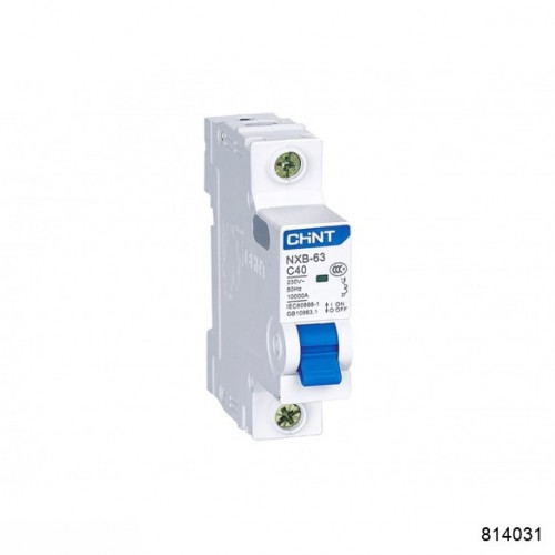 Автоматический выключатель NXB-63 1P 40А 6кА х-ка D (CHINT), арт.814031