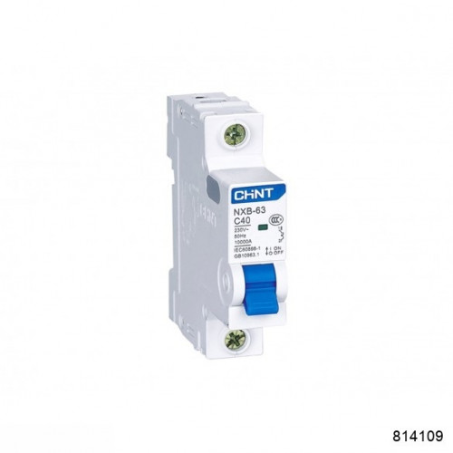 Автоматический выключатель NXB-63 2P 40А 6кА х-ка D (CHINT), арт.814109