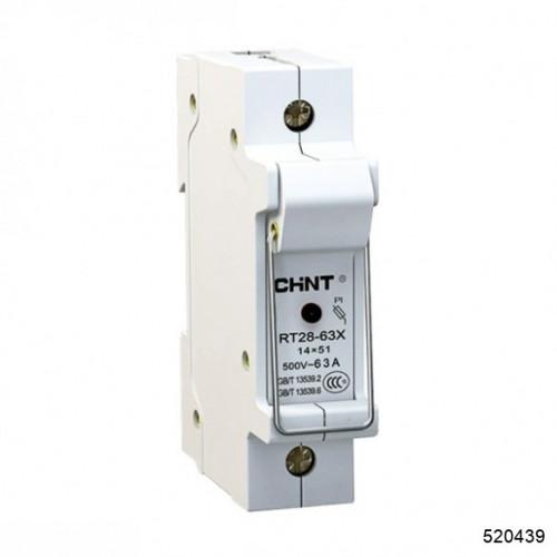 Держатель плавких вставок с индикацией RT28-63X 14х51 1П (CHINT), арт.520439