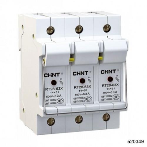 Держатель плавких вставок с индикацией RT28N-32X 10х38 3П (CHINT), арт.520349
