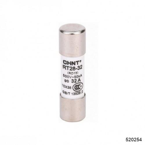 Плавкая вставка цилиндрическая RT28-32 10A 10х38 (CHINT), арт.520254